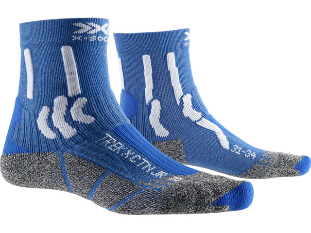 X-Socks Trek X CTN Chaussettes Enfant, lake blue/arctic white